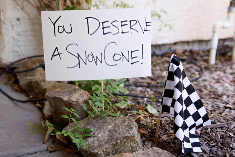 you deserve a sno cone!