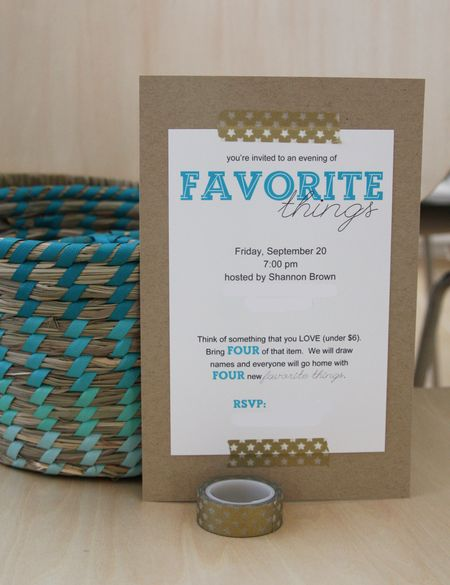 Find Joy in the Journey:  Favorite Things Party invitation