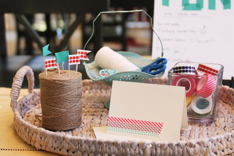 Favorite Things Party - washi tape craft station : Find Joy in the Journey