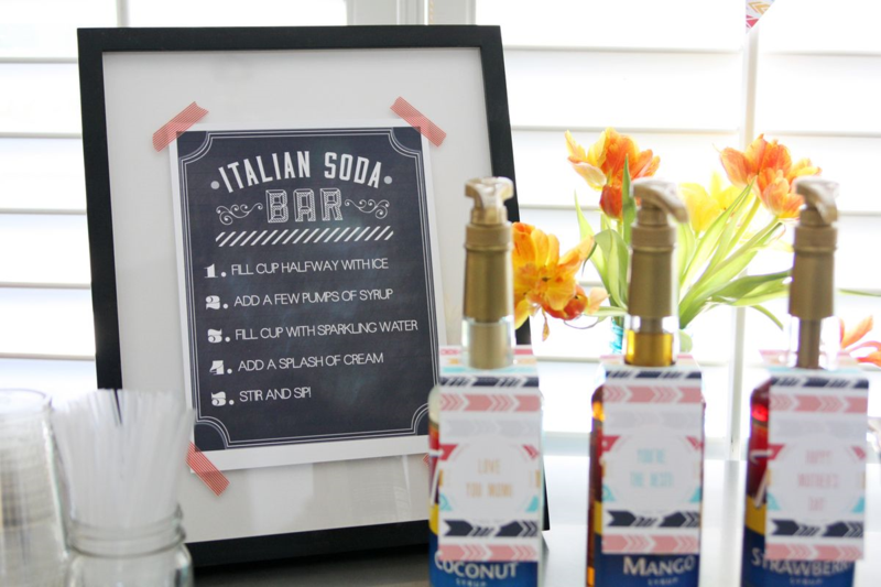 Mother's Day party & Italian Soda Bar  |  find joy in the journey