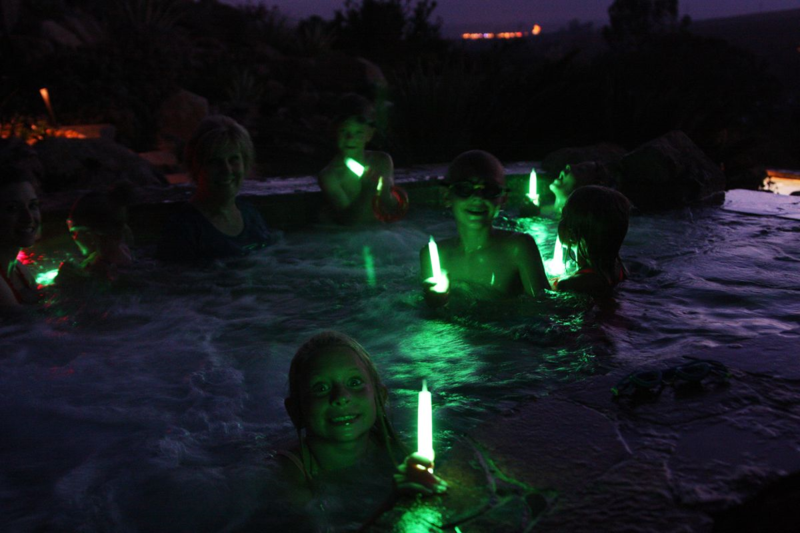 Night swimming with glowsticks  |  Find Joy in the Journey