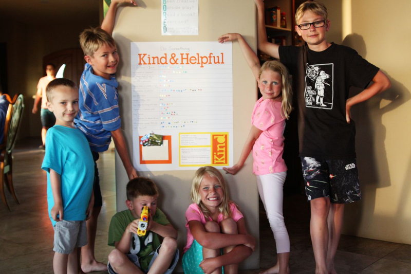 Do Something Kind and Helpful - family reunion activity  |  Find Joy in the Journey
