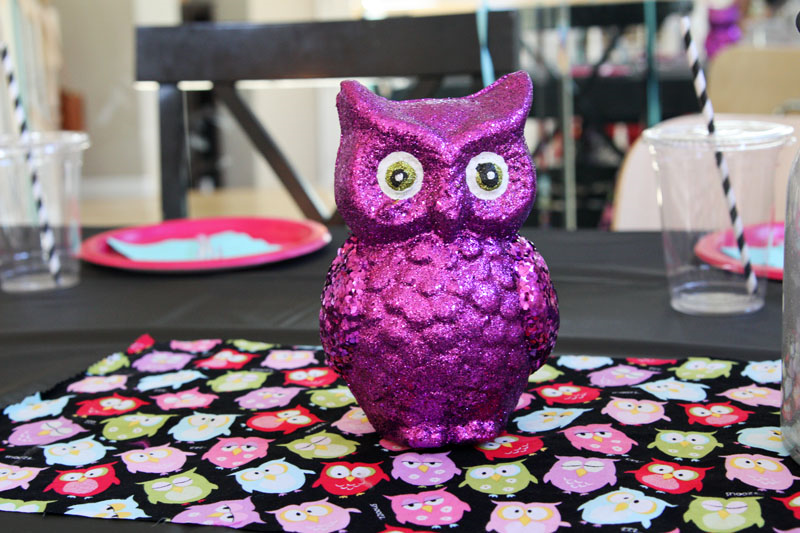 Night Owl Party Decorations - owls from the dollar spot at Target | Find Joy in the Journey