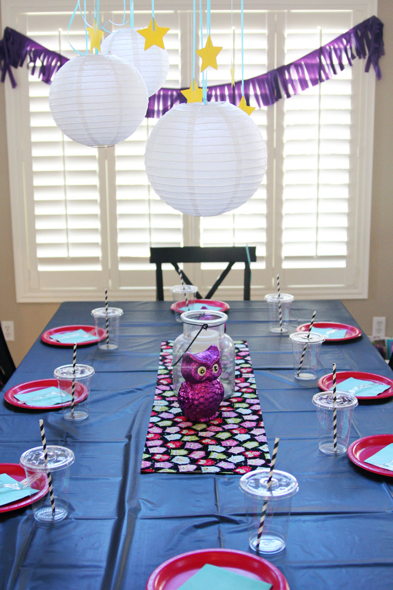 Night Owl Party decorations | Find Joy in the Journey