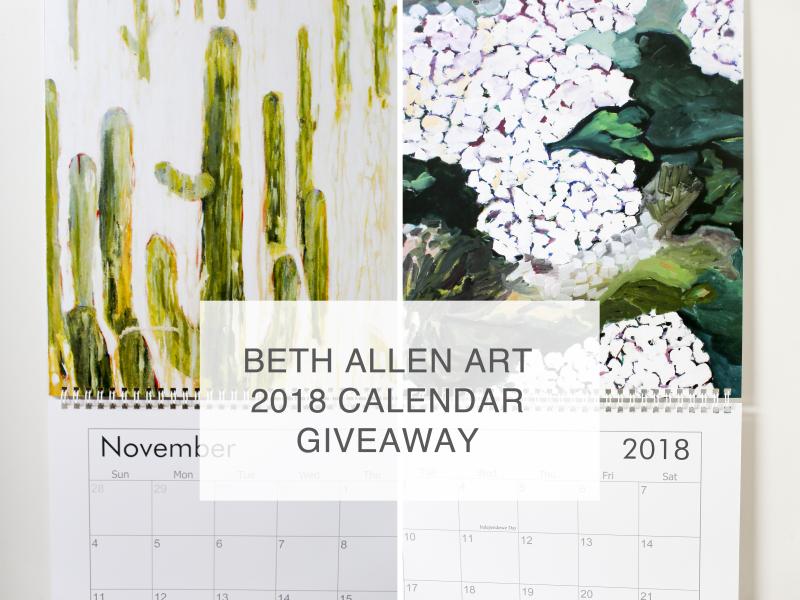 Beth Allen Calendar 1