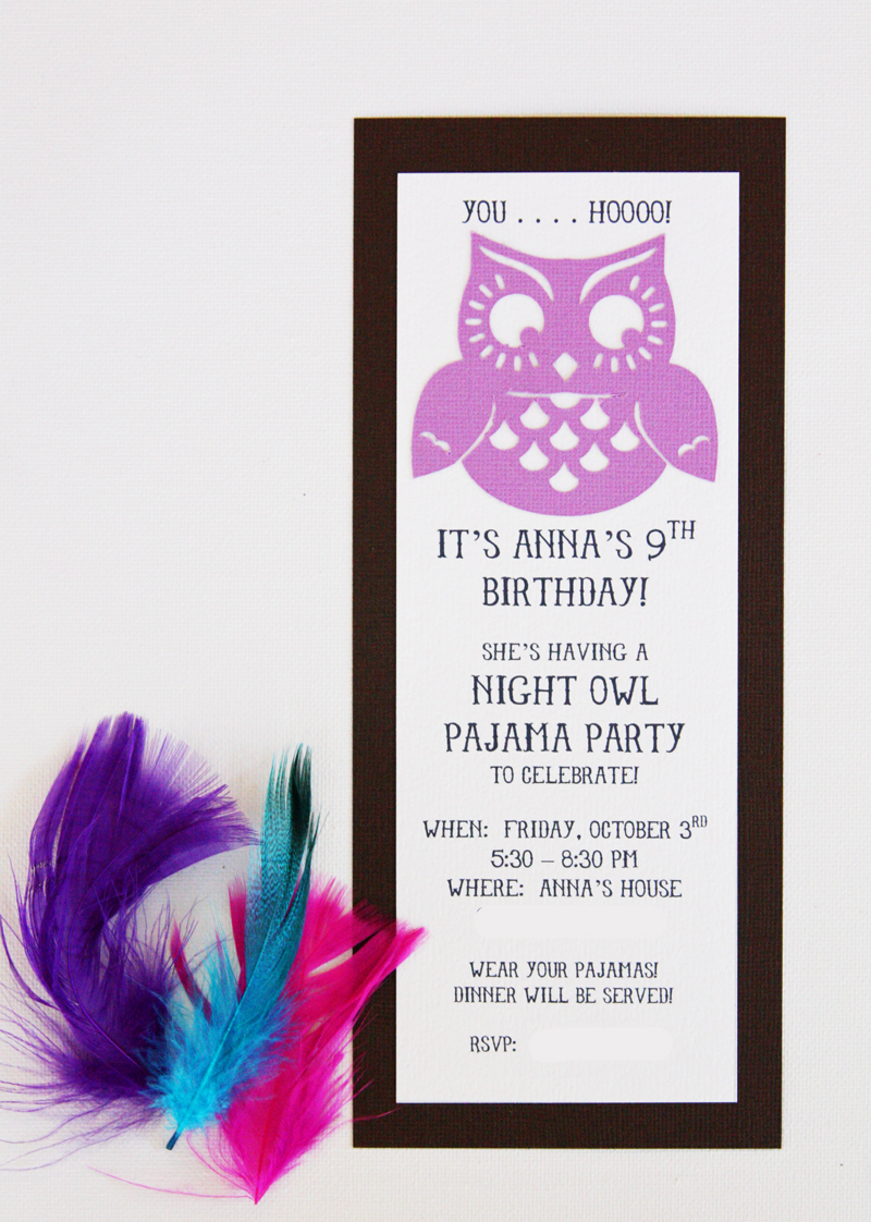 find joy in the journey Night Owl Party invitations and – Owl Party Invitations