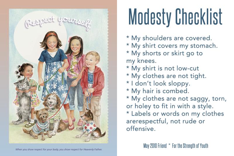 ModestyChecklist